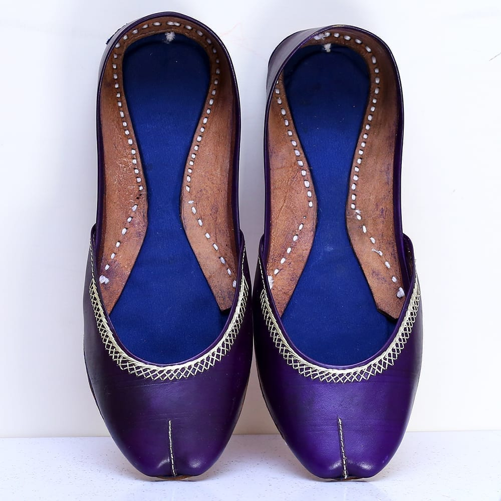 Buy Online Purple Color Handmade Multani Khussa For Ladies Price in Pakistan