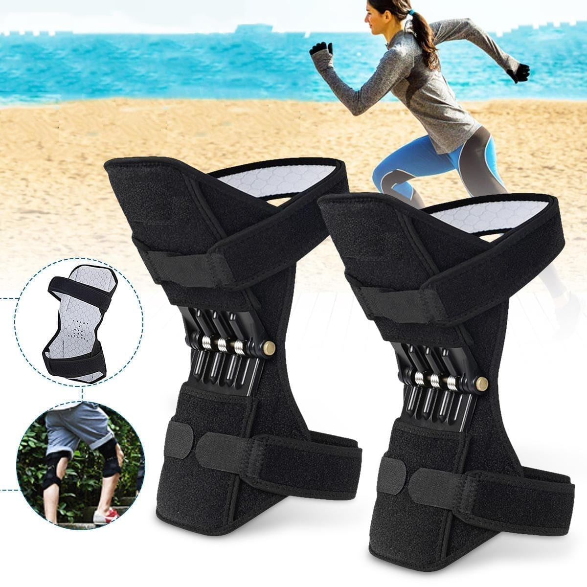 Buy Online Power Knee Stabilizer Pads Leg Knee Joint Support In Pakistan